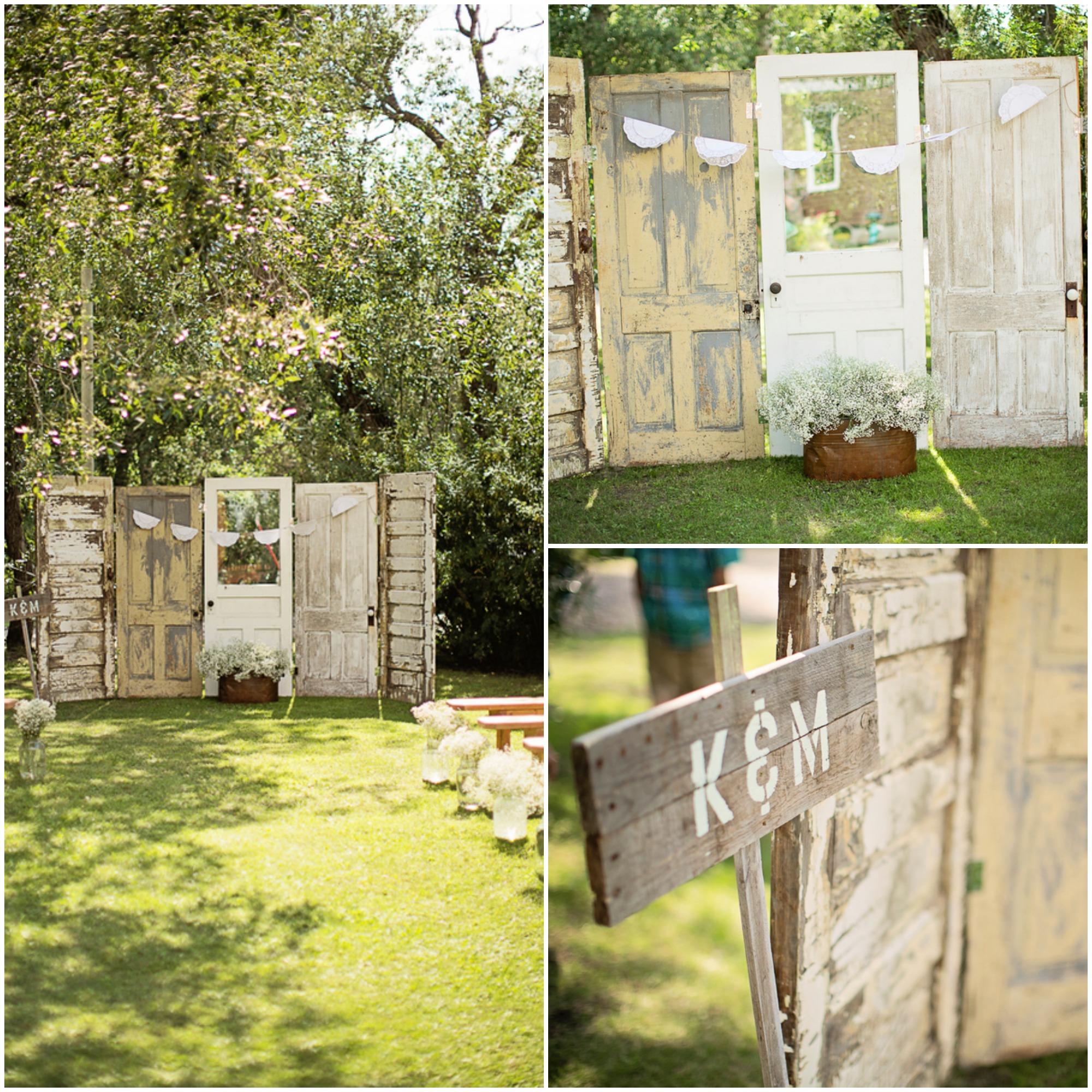 Rustic Door Wedding Ideas