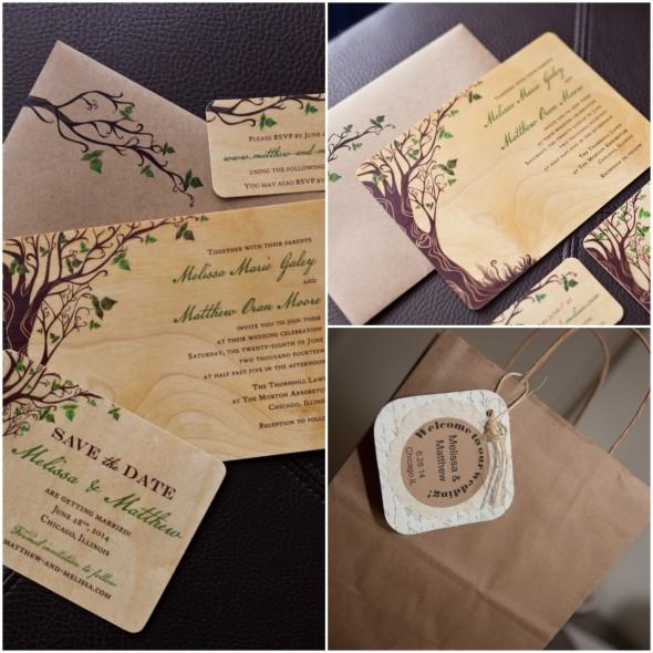Birch Wood Wedding Invitations