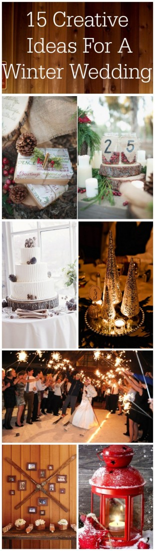 The most creative and fun winter wedding ideas from one of the top wedding bloggers.