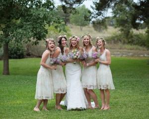 Vintage Style Wedding Bridesmaids