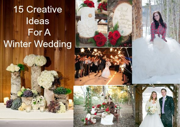 15 creative winter wedding ideas rustic wedding chic 15 creative winter wedding ideas junglespirit Gallery