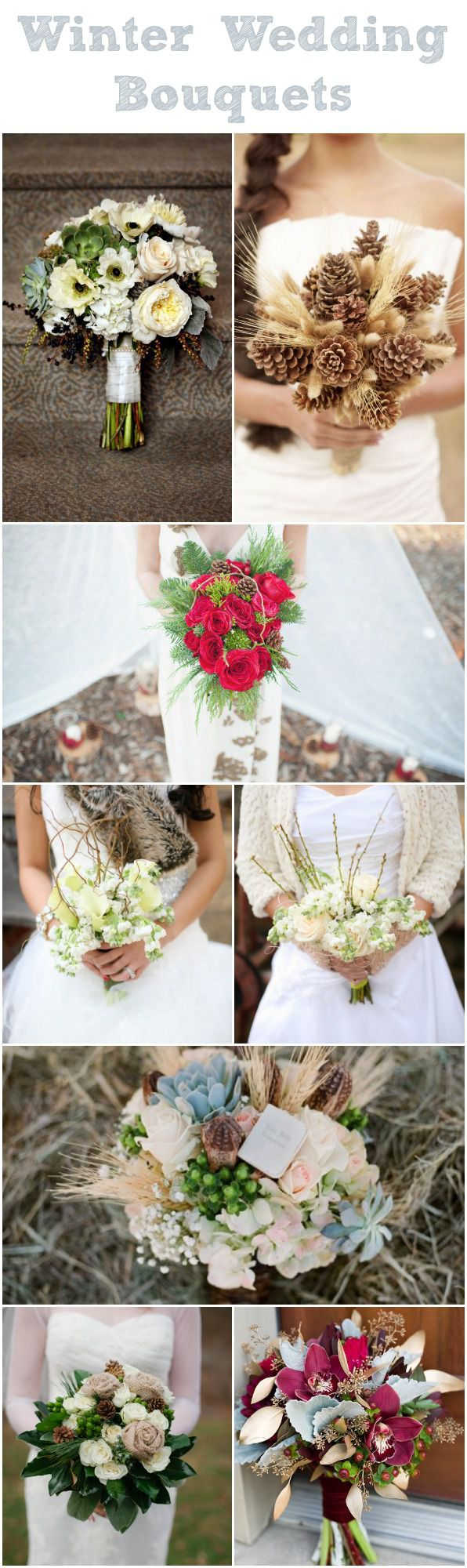 20 Winter Wedding Bouquets Rustic Wedding Chic
