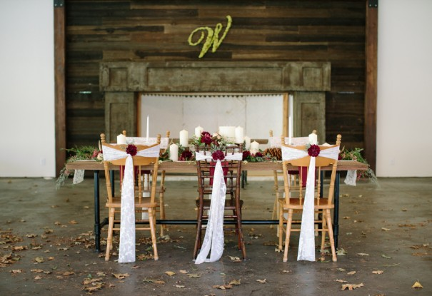 Dark Red Woodsy Wedding Inspiration