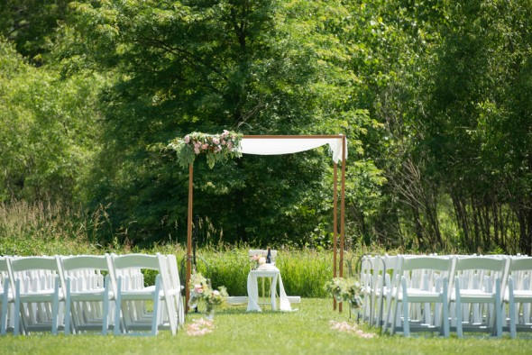 Outdoor Park Or Indoor Room For Wedding Ceremony: Elegant Chicago Area Park Wedding