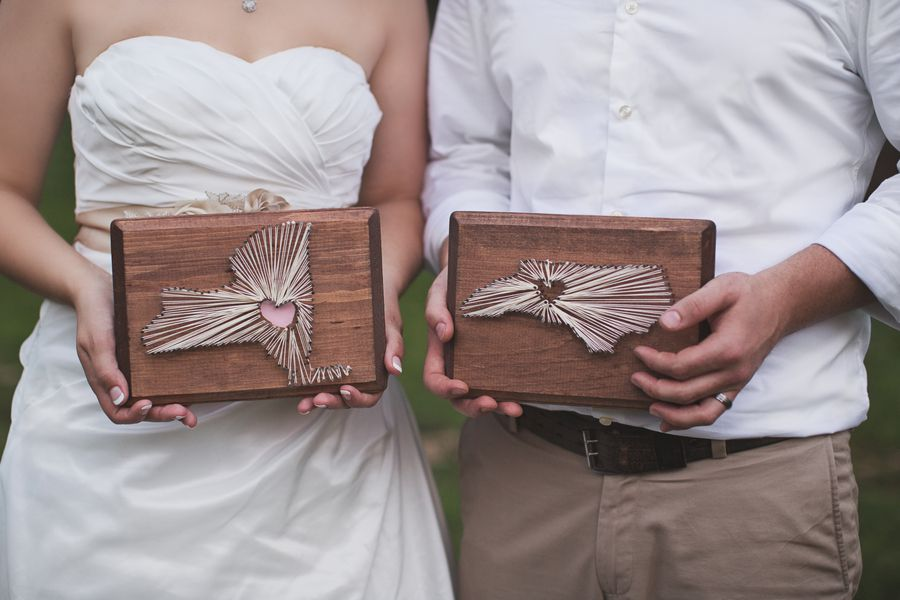 String Art by Bride and Groom