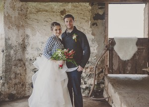 Plaid rustic wedding