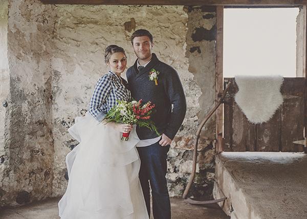 Plaid rustic wedding