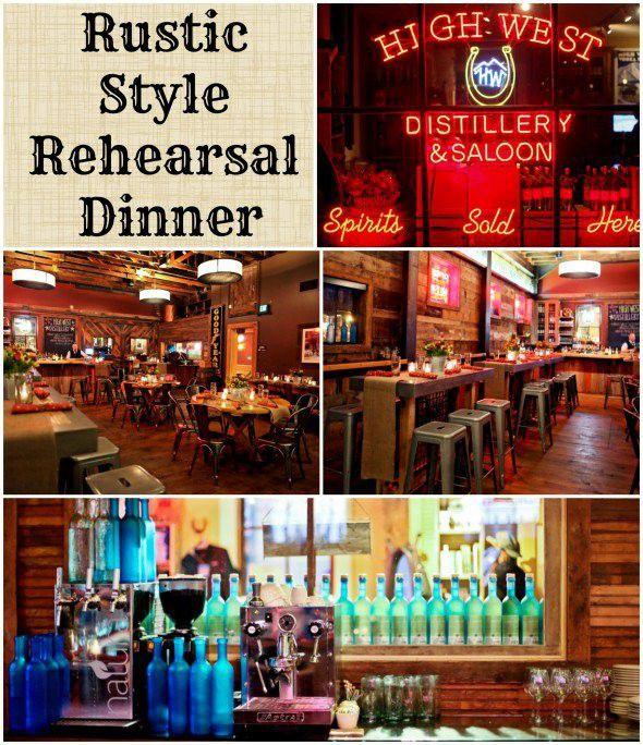 Rustic Style Rehearsal Dinner