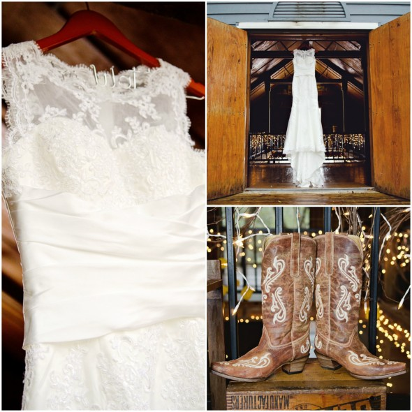 Country Wedding Dresses With Boots: Country Sunflower Wedding