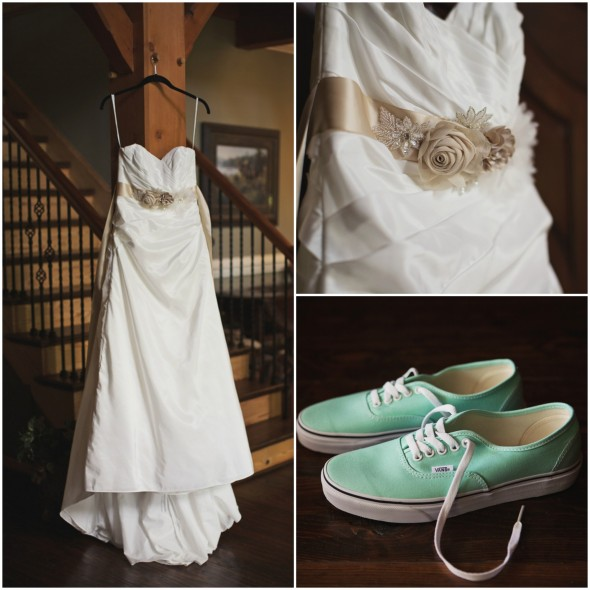 Rustic Chic Wedding Shoes: North Carolina Lodge Wedding