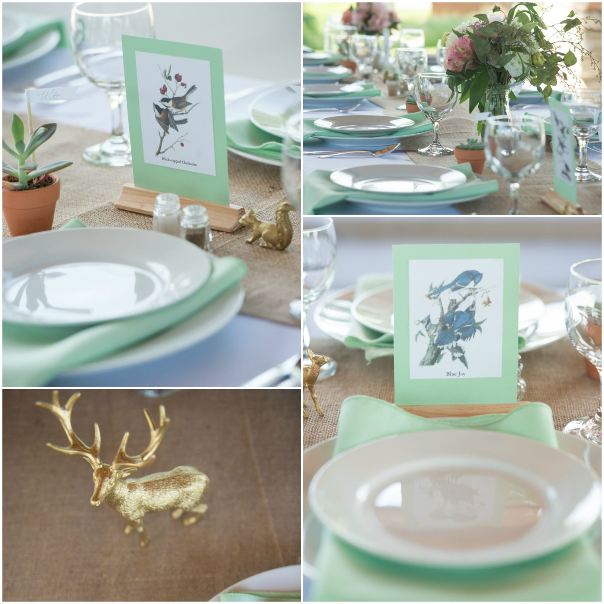 Wedding Reception Bird Table Numbers