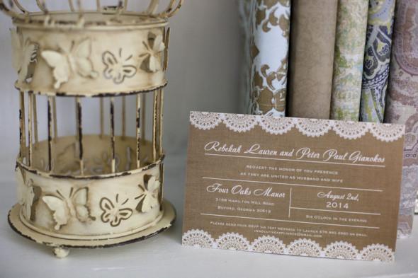Kraft Style Wedding Invitation