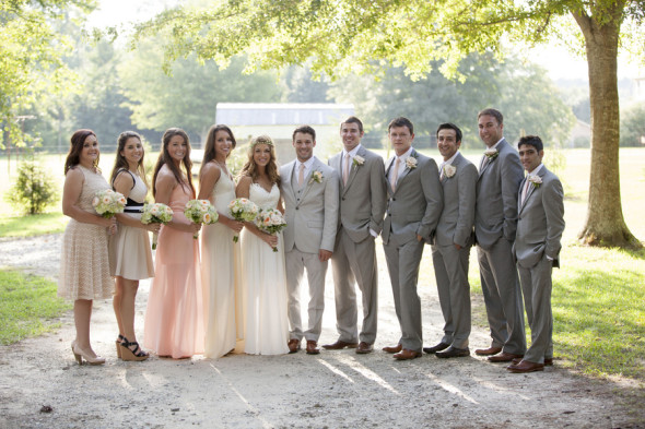 Rustic Country Wedding Bridal Party