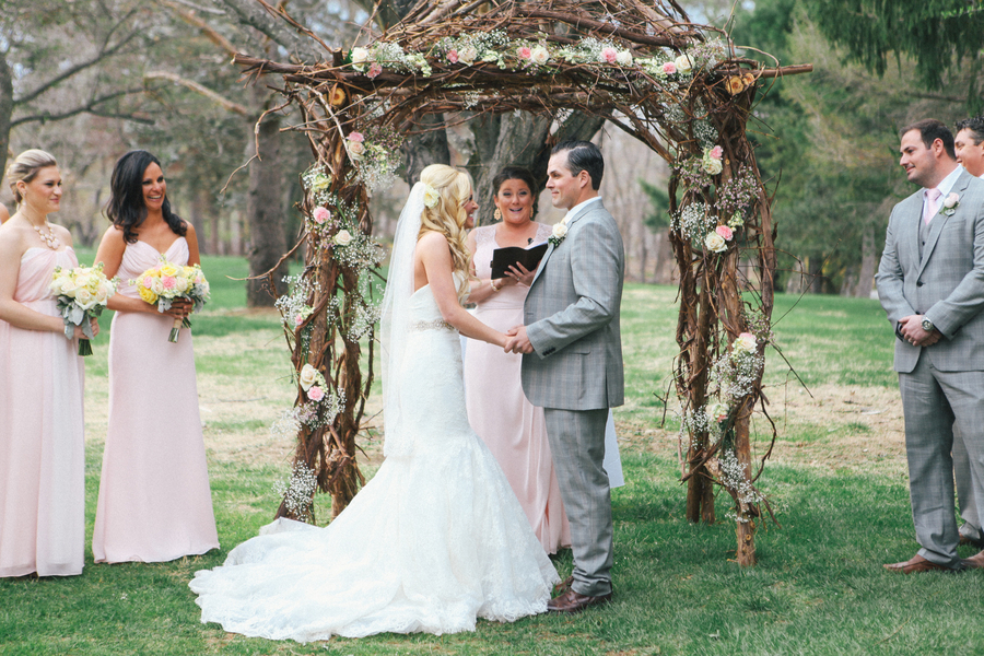 Outdoor Wedding Ceremony with Arbor