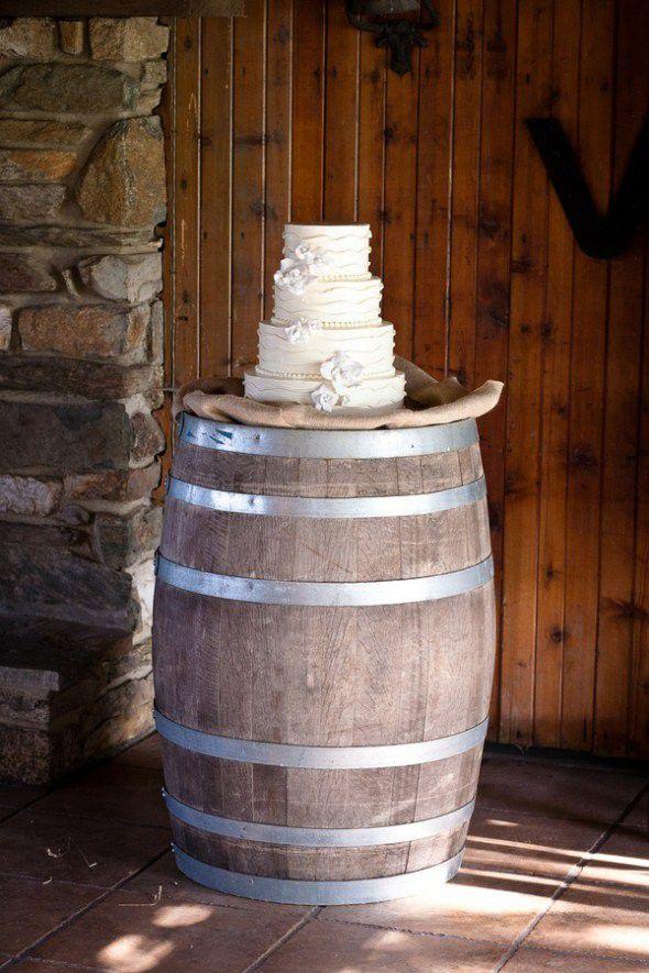 Whiskey Barrel Cake Stand