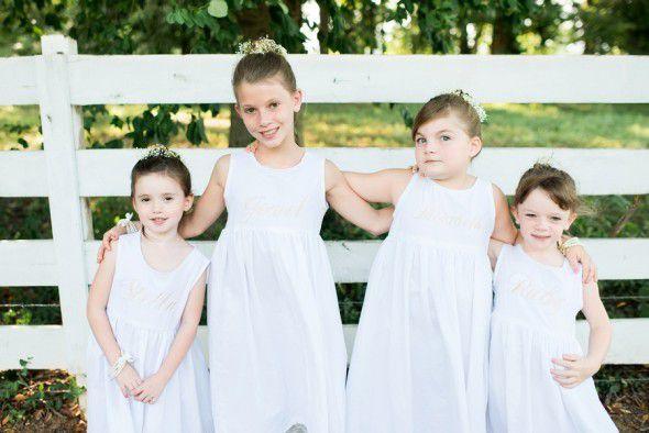 Country Wedding Flower Girls