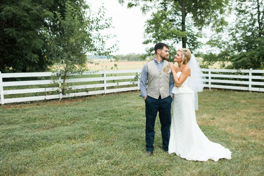 Country Style Wedding Couple