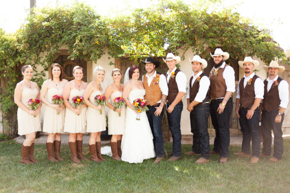 Western Style Wedding Party