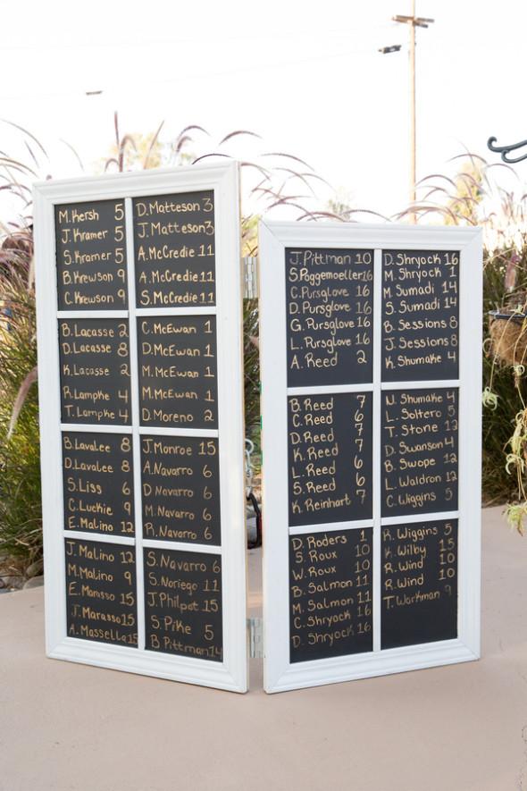 Chalkboard Wedding Seating