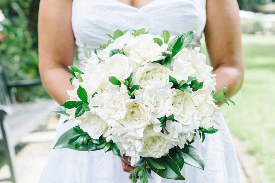 White Magnolia Bridal Bouquet