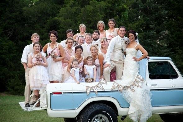 Pickup Truck At Wedding