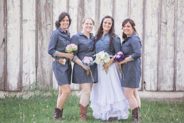 Denim Bridesmaid Dresses
