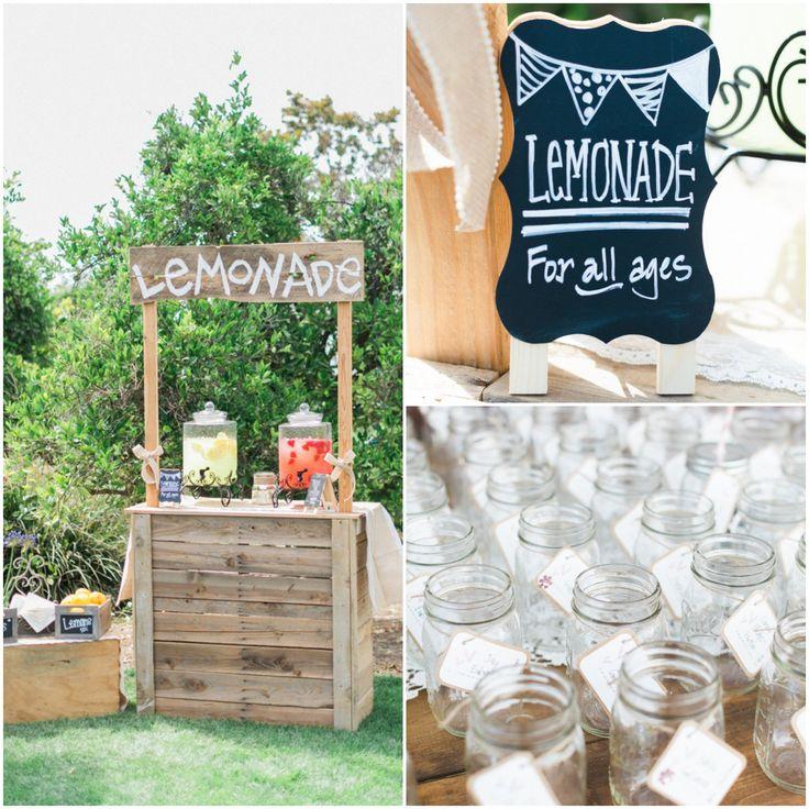 Fun Outdoor Wedding Ideas: 8 Fun & Unique Wedding Drink Displays