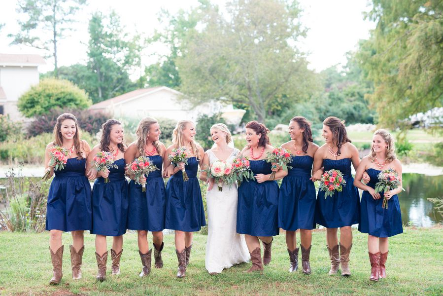 Wedding Navy Country Bridesmaid Dresses
