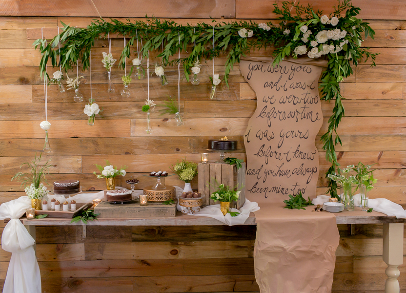 Chic Rustic Country Wedding: Casual Natural Wedding Inspiration