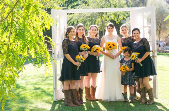 Sunflower Rustic Wedding