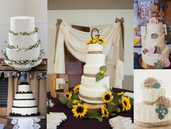 Ideas for country wedding cakes