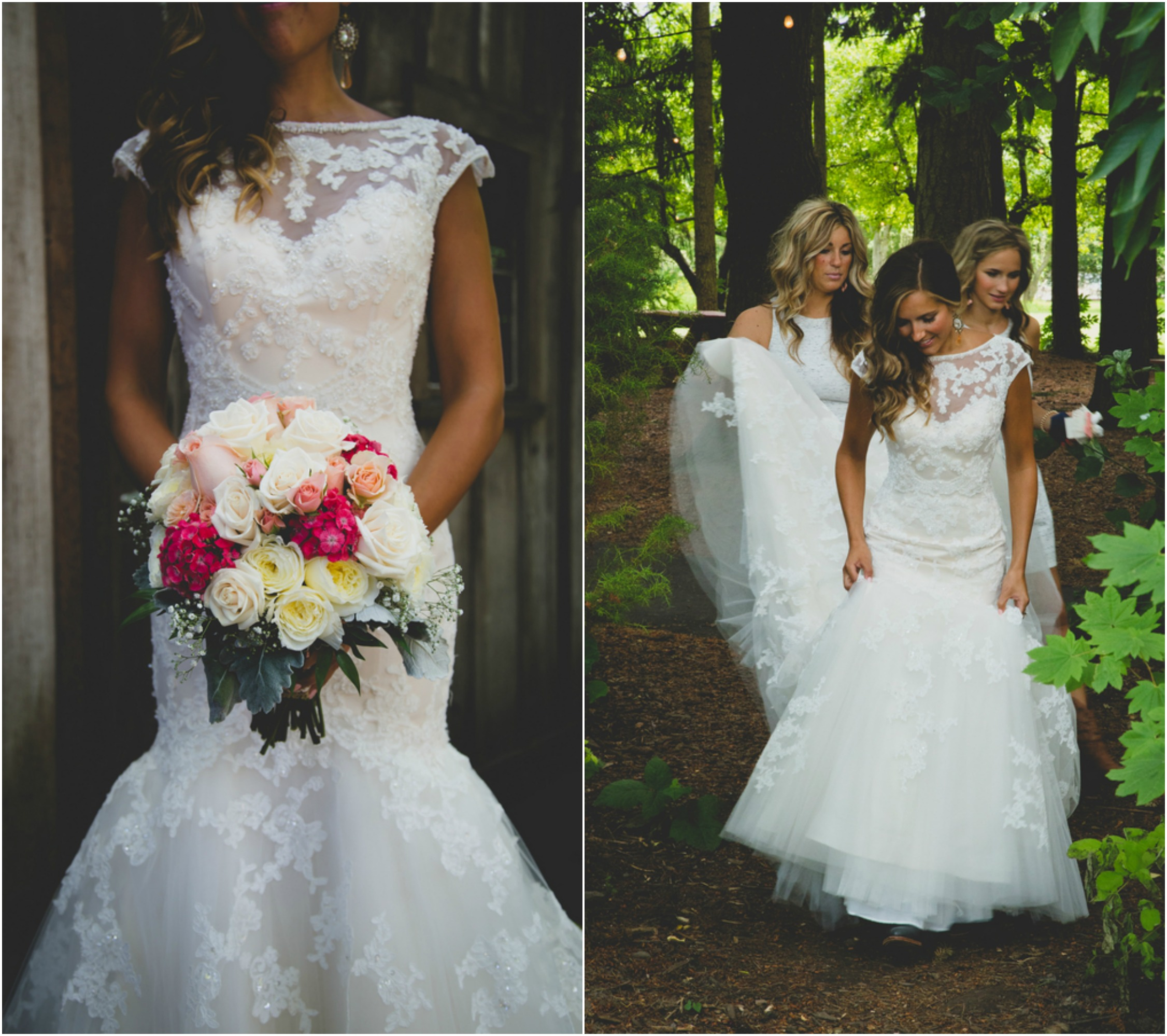 Rustic Wedding Chic: Wedding With Bridesmaids In Cowboy Boots