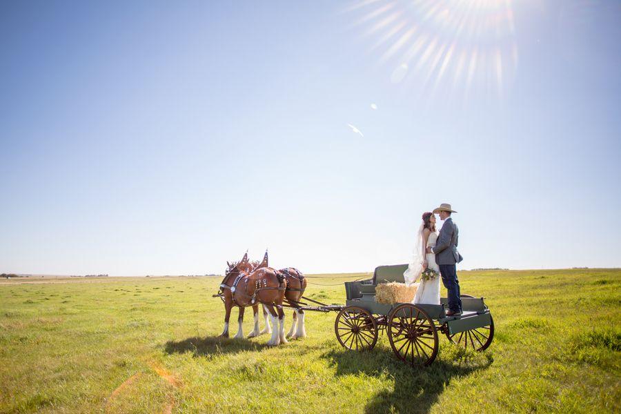 Western Style Barn Wedding - Rustic Wedding Chic