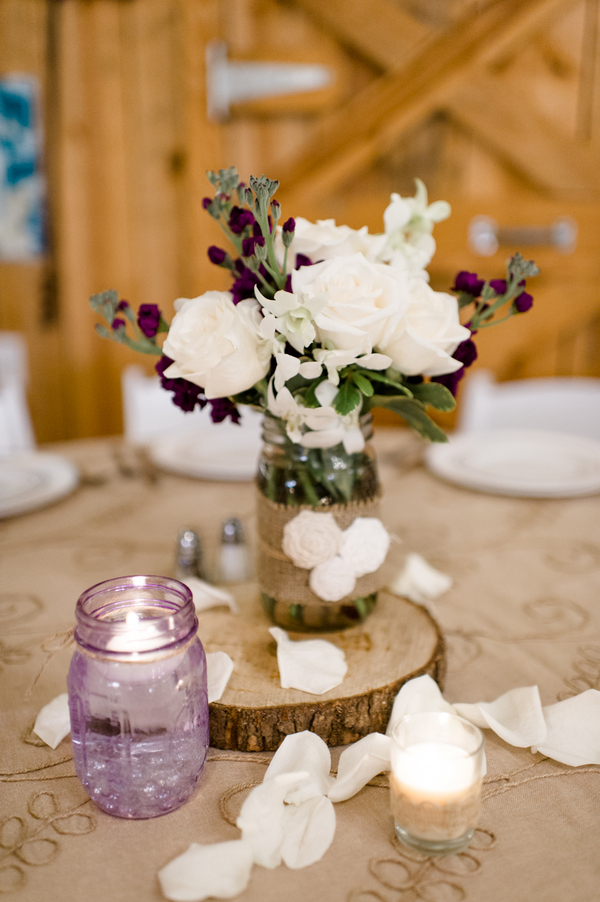 Purple rustic wedding chic