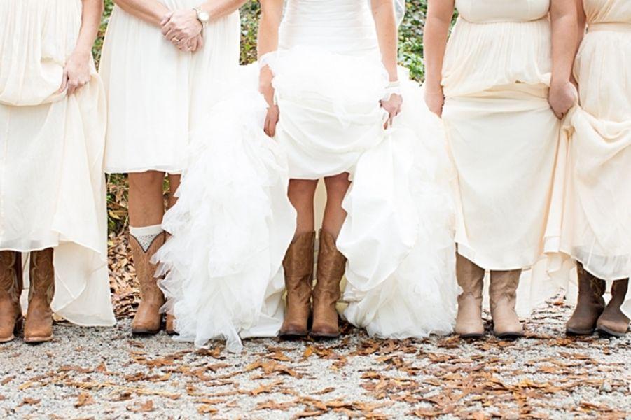 Cowboy Boots On Bride