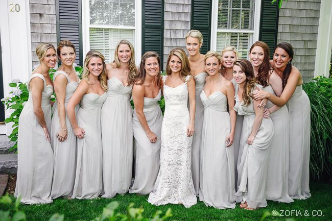 Cream Bridesmaid Dresses Nantucket Nautical Wedding