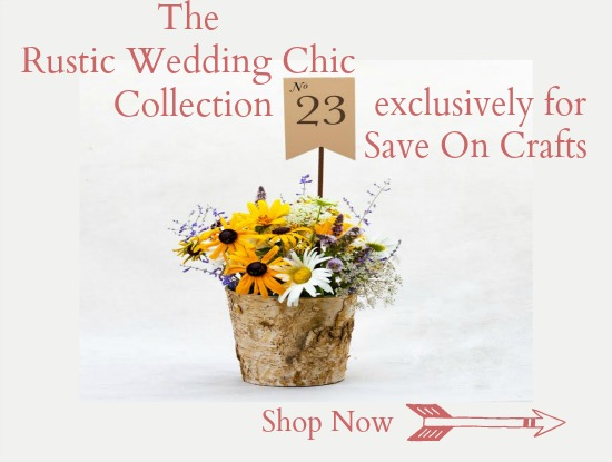 Rustic wedding chic save on crafts rustic wedding chic for Save on crafts wedding