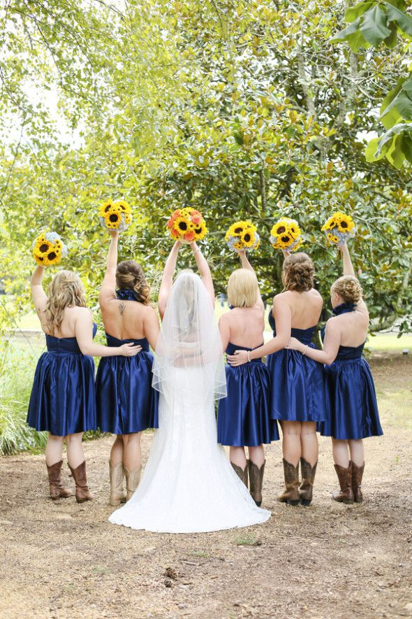 Sunflower Barn Wedding - Rustic Wedding Chic