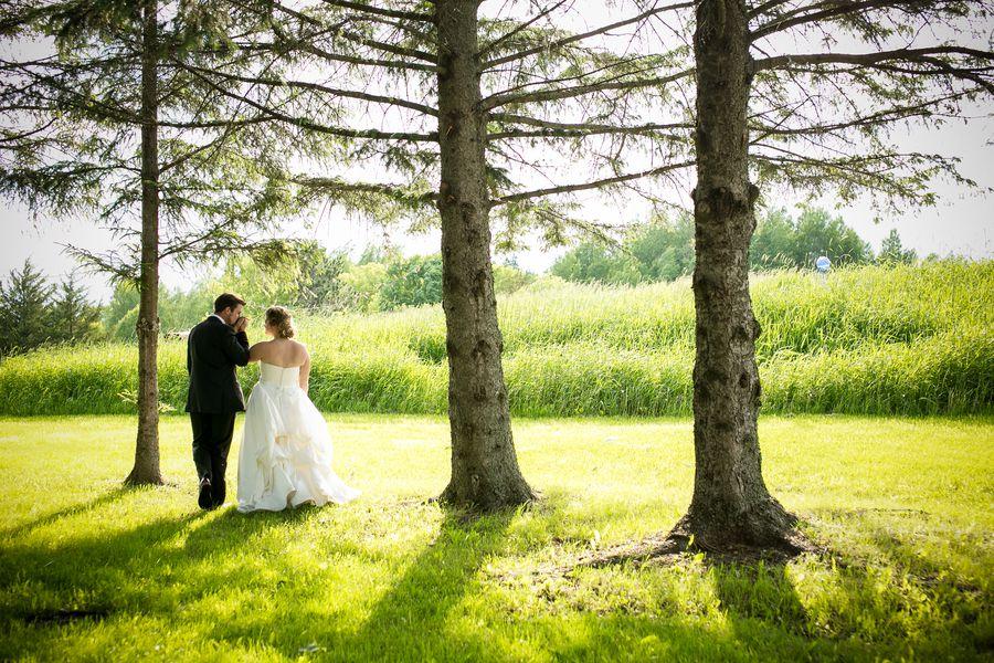 Rustic Style Backyard Wedding