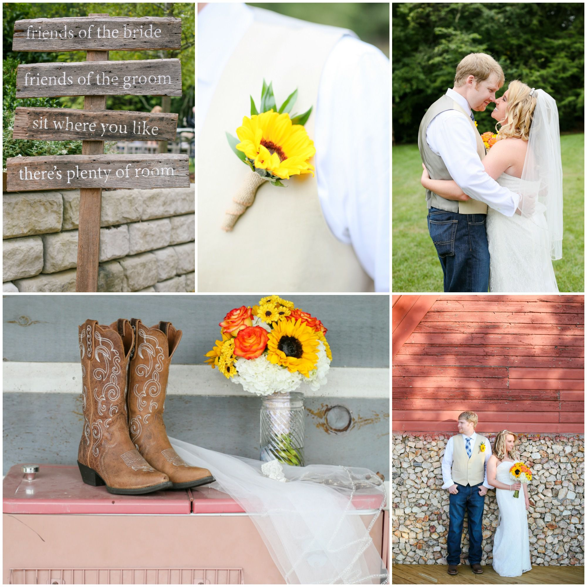 Sunflower Barn Wedding Rustic Wedding Chic