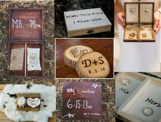 Diy rustic wedding diy wedding ideas invitations flowers for a our favorite rustic wood ring boxes junglespirit Gallery