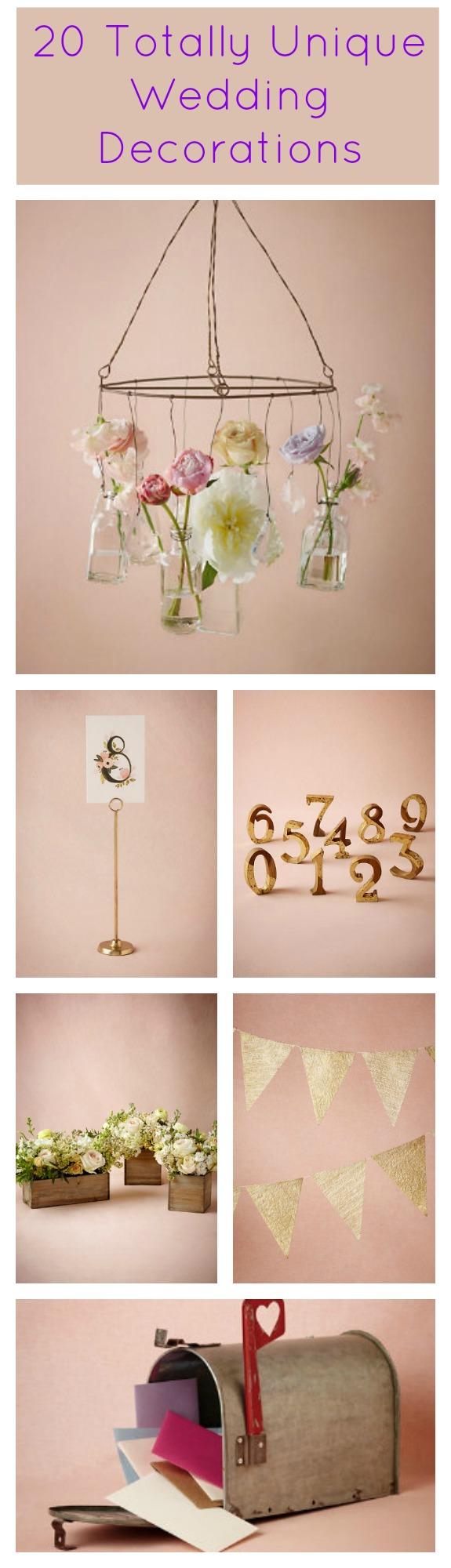 20 totally unique wedding decorations rustic wedding chic. Black Bedroom Furniture Sets. Home Design Ideas