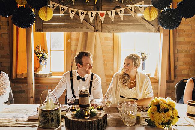 Rustic Style Wedding Reception