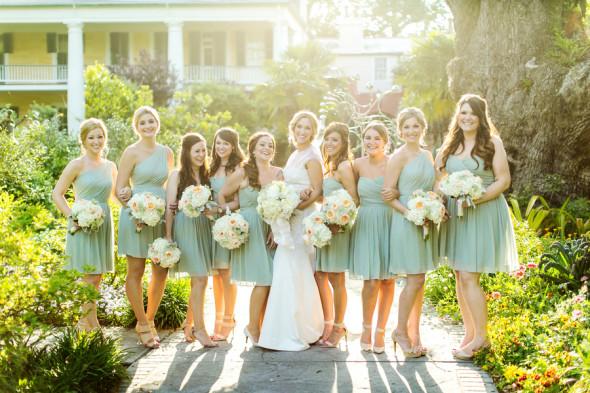 Light Green Bridesmaids Dresses