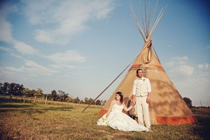 Rustic Tepee Wedding: Bathany + Thomas