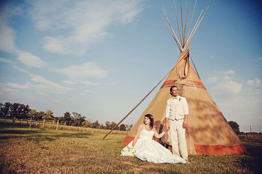 Rustic Wedding With Teepee