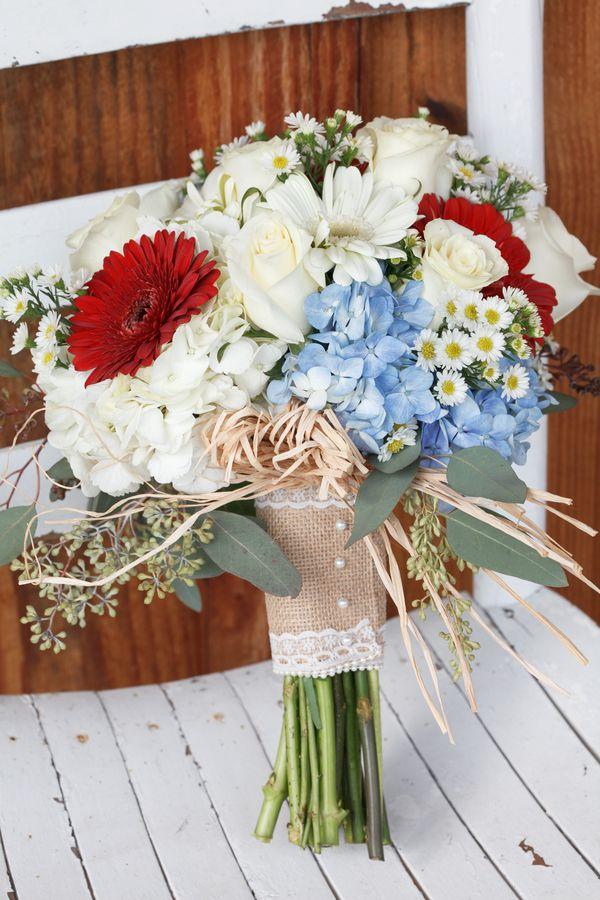 Red white blue wedding rustic wedding chic country wedding red white blue bouquet mightylinksfo