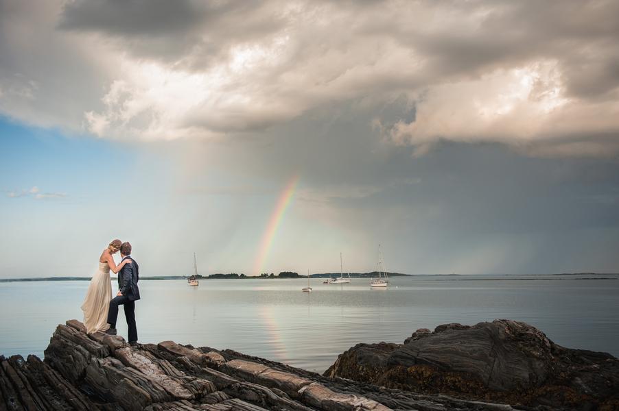 Rustic Maine Island Wedding