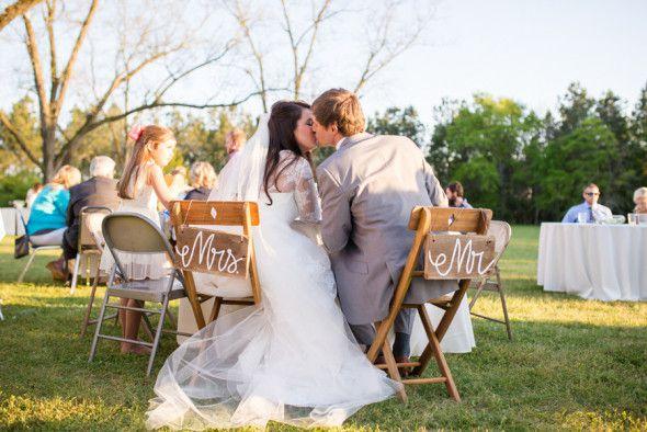 Intimate Rustic Backyard Wedding: Intimate DIY Backyard Wedding