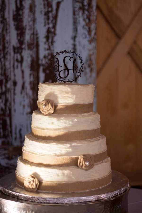 10 Amazing Burlap Wedding Cakes Rustic Wedding Chic